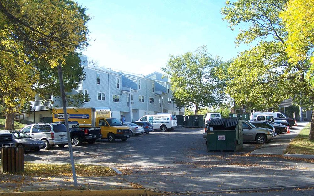 Sardo Land Surveying - apartment building parking lot
