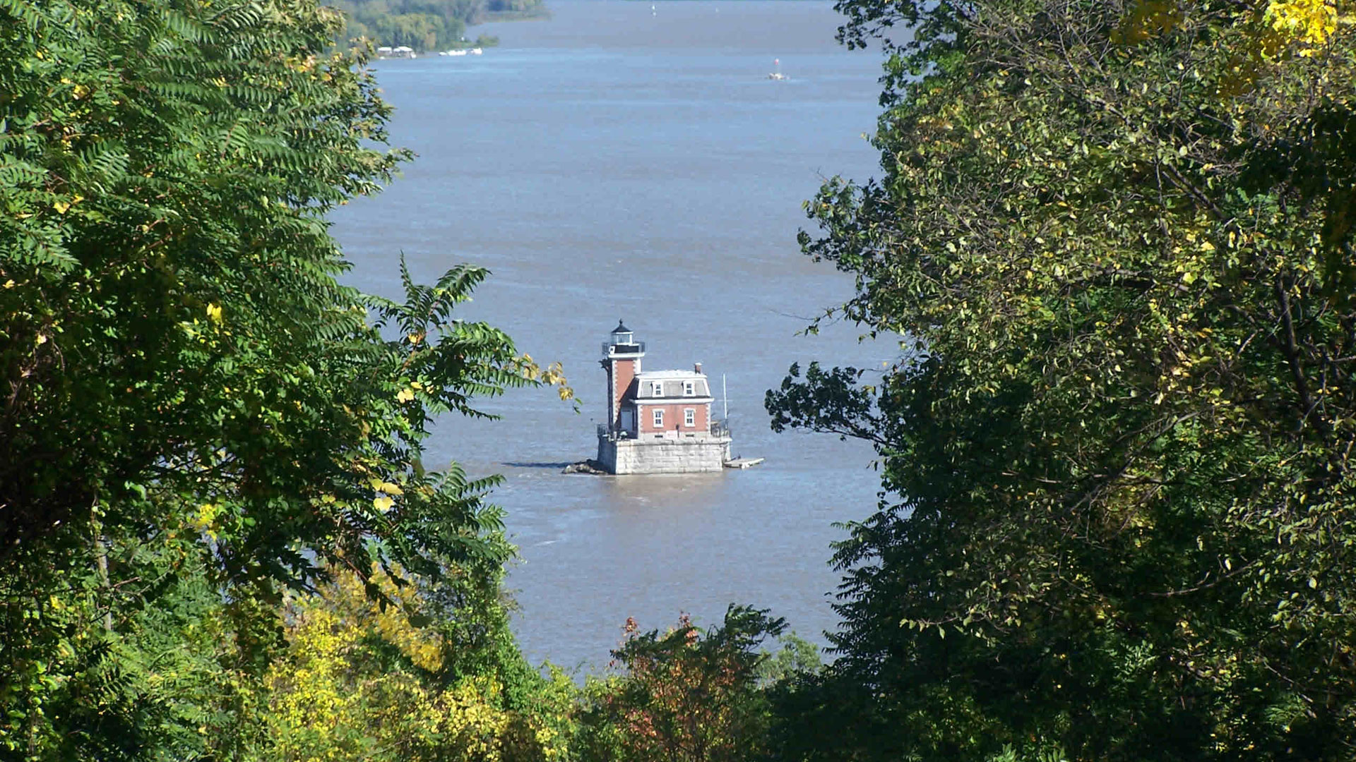 Lighthouse in the Hudson River.