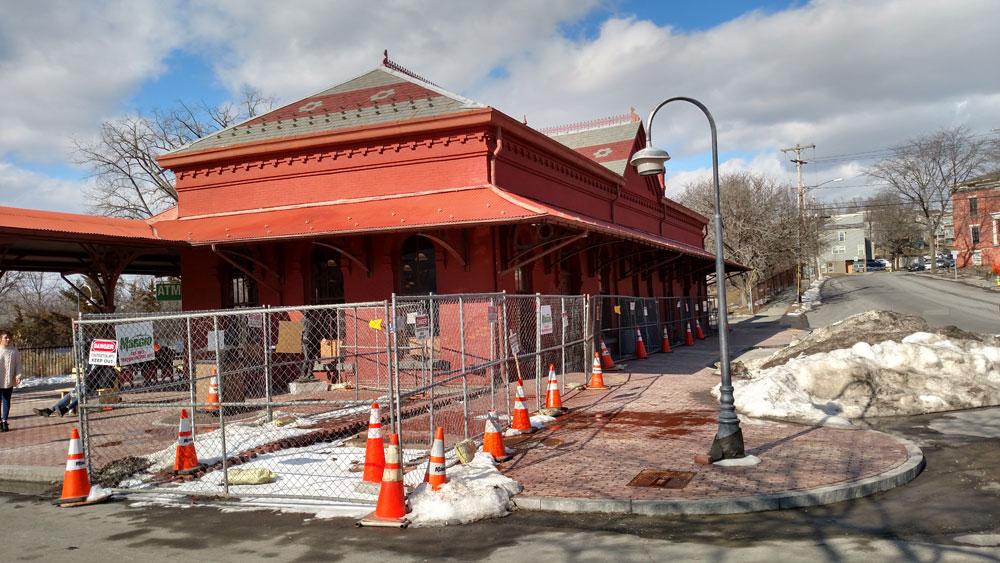 Sardo Land Surveying - Hudson Train Station - construction project