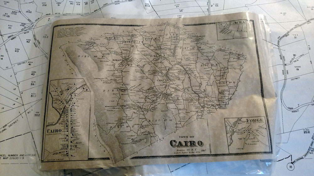 Town of Cairo map and property map
